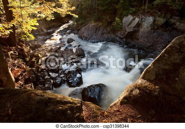 Algonquin Park Muskoka Ontario Waterfall - csp31398344
