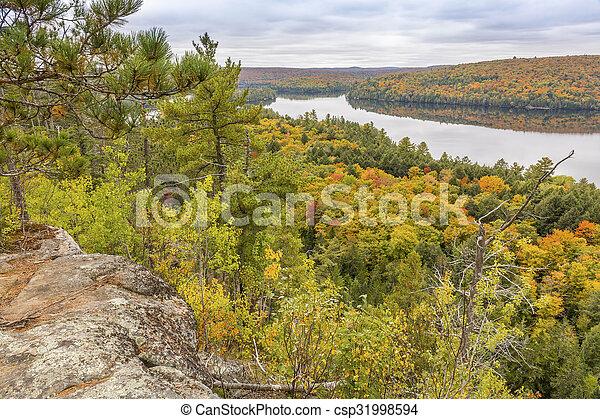 Algonquin Provincial Park in Autumn - csp31998594