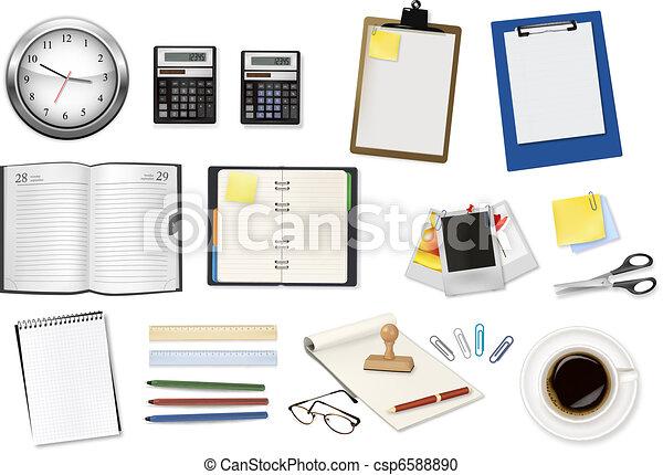Algunos suministros de oficina. Vector. - csp6588890