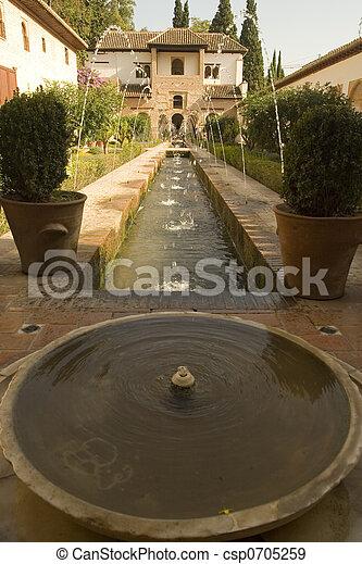 Alhambra Fountain - csp0705259