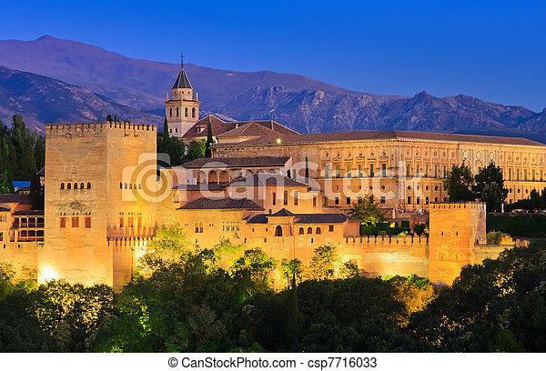 Alhambra palace, Granada, Spain - csp7716033