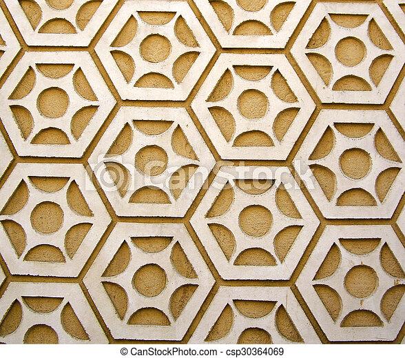 alhambra, rovine, palazzo, fondo - csp30364069