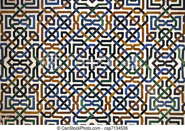 Alhambra Tile Detail Detailed Background Of The Intricate Tile Patterns On A Wall Of The Alhambra Palace Granada Spain Canstock