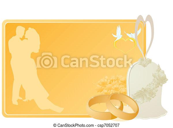 Campanas de boda y anillos - csp7052707