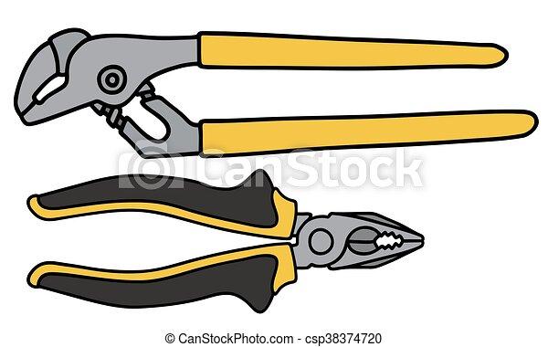 Llaves y pinzas combinadas - csp38374720