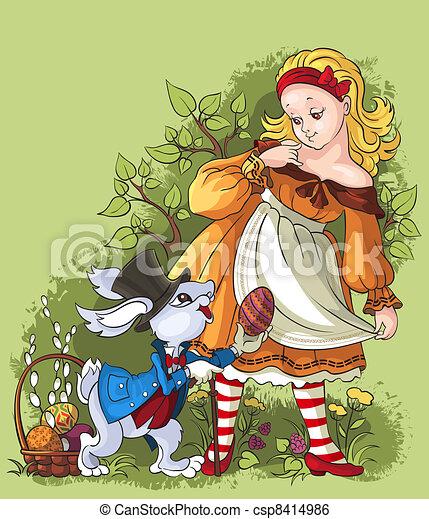 Alice and the White Rabbit - csp8414986