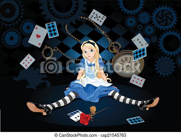 Alice in surprise - csp21545763