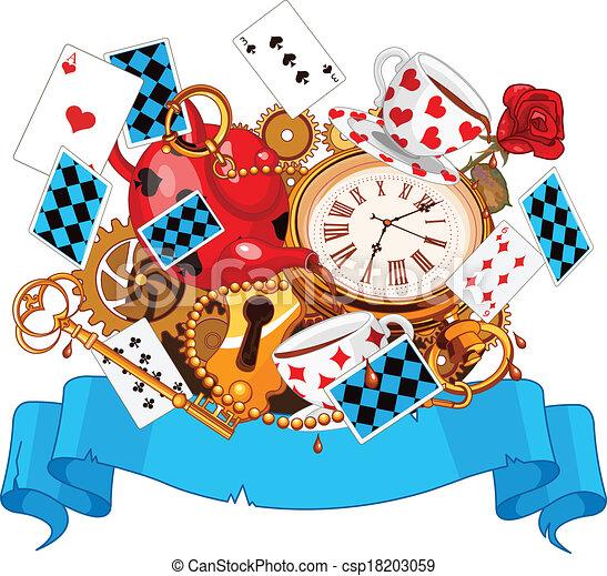 Alice in Wonderland  design - csp18203059