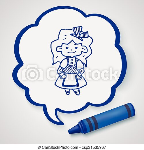 alice in wonderland doodle - csp31535967
