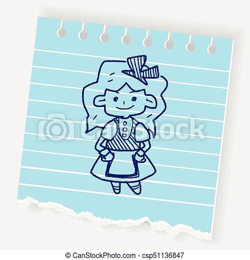 alice in wonderland doodle - csp51136847