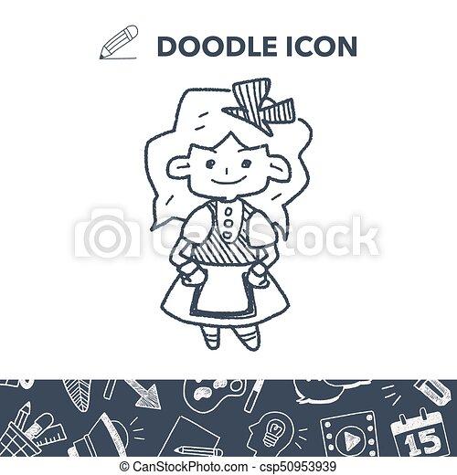 alice in wonderland doodle - csp50953939
