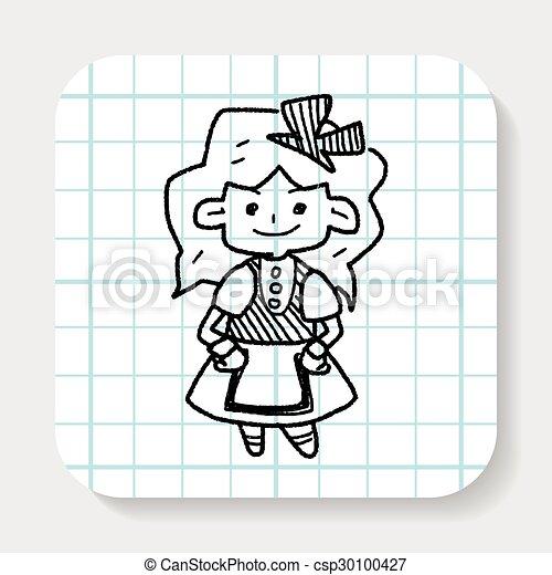 alice in wonderland doodle - csp30100427
