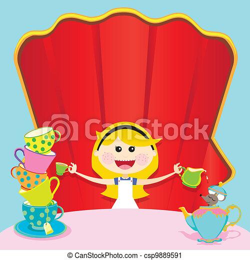 Alice in Wonderland Unbirthday Part - csp9889591