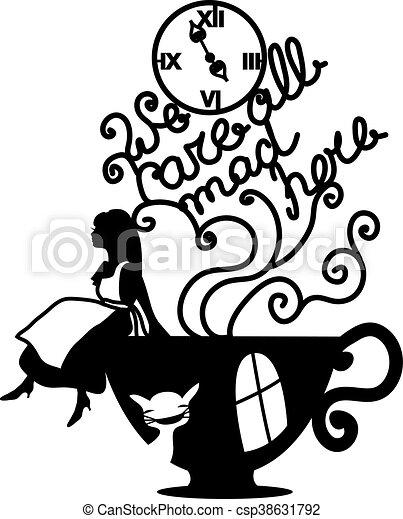 Alice in Wonderland vector illustration - csp38631792