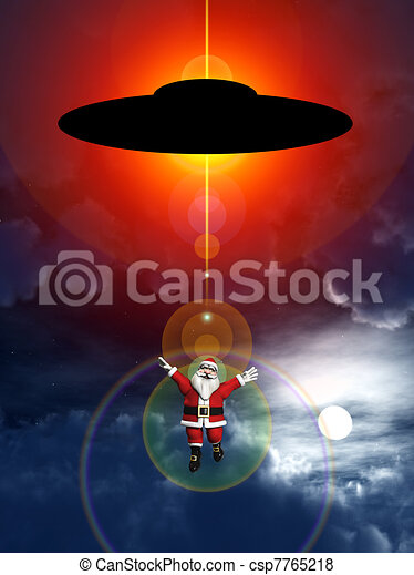 UFO News ~ UFO's or Santa Clause You Decide! Multiple UFOs Sighted Over Glasgow, Scotland plus MORE Alien-abducted-santa-claus-stock-illustration_csp7765218