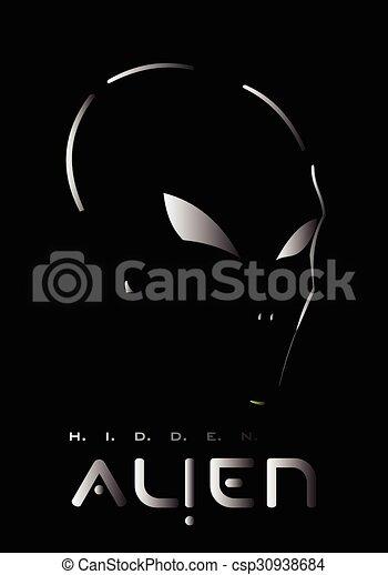 Alien, Alien face. Alien head - csp30938684
