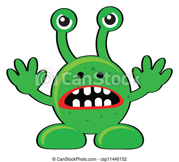 illustration of angry alien clipart vector search illustration rh canstockphoto com Alien Face Clip Art Free Rocket Clip Art