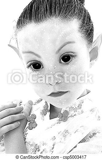 Alien Girl Illustration - csp5003417