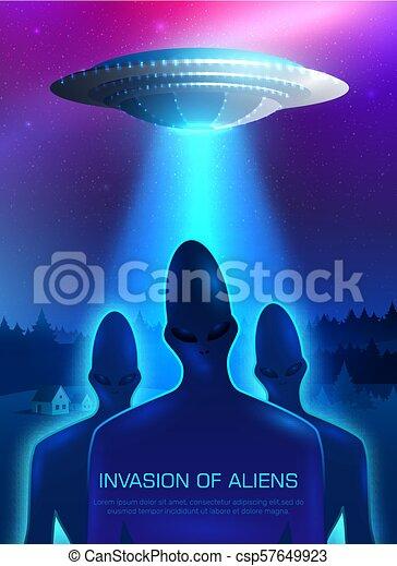 Alien Invasion Illustration - csp57649923