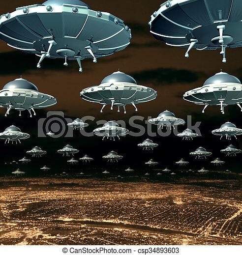 Alien Invasion - csp34893603