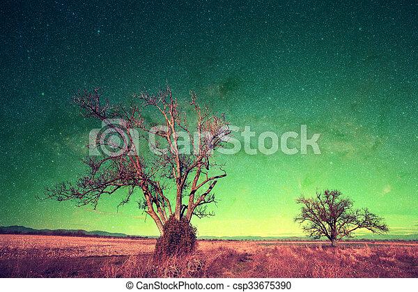 alien landscape series  - csp33675390
