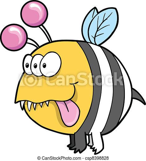 Alien Monster Bee Vector art - csp8398828