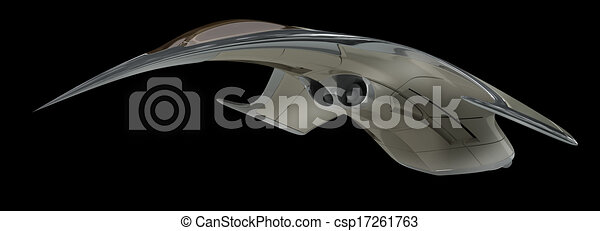 Alien Spacecraft Design Futuristic Military Spacecraft With