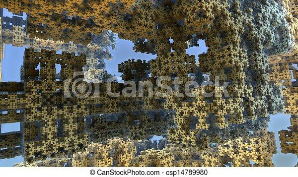 Alien world 3D fractal - csp14789980