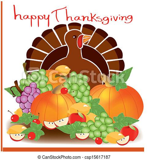 Día de Acción de Gracias comida 2 - csp15617187