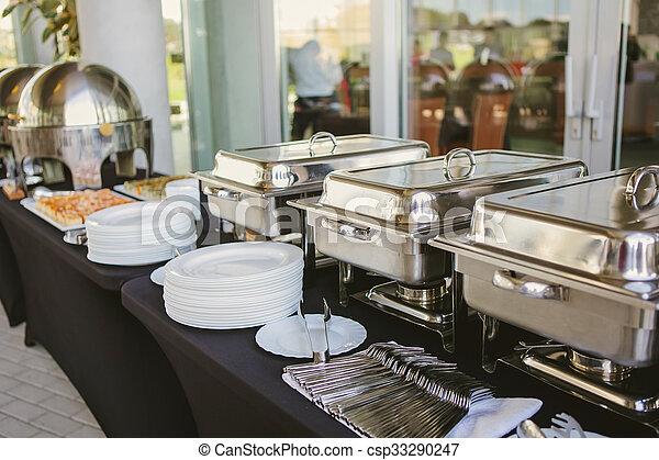 alimento, abastecimiento, boda - csp33290247