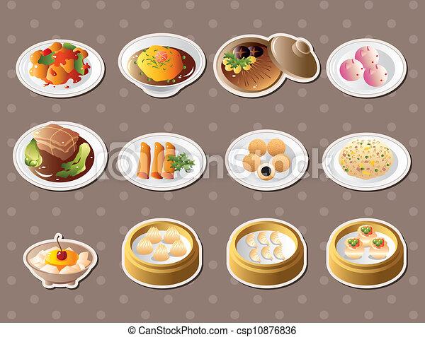 alimento, adesivos, chinês - csp10876836