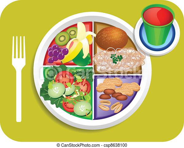 Alimento Almuerzo Mi Vegetariano Placa Placa