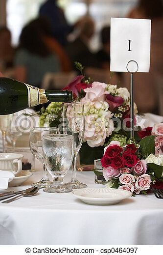 alimento, bebida, boda - csp0464097