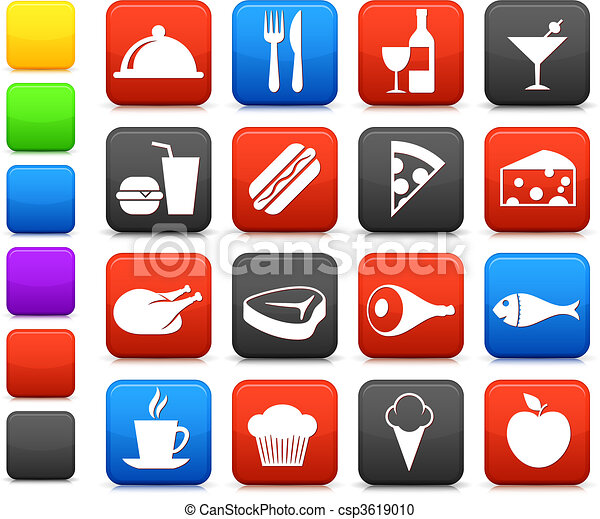 Comida y bebida colección de iconos - csp3619010