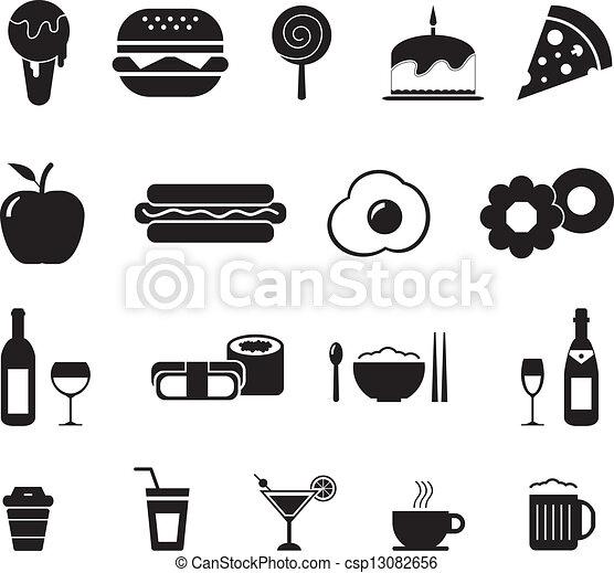 Comida y bebida icono - csp13082656
