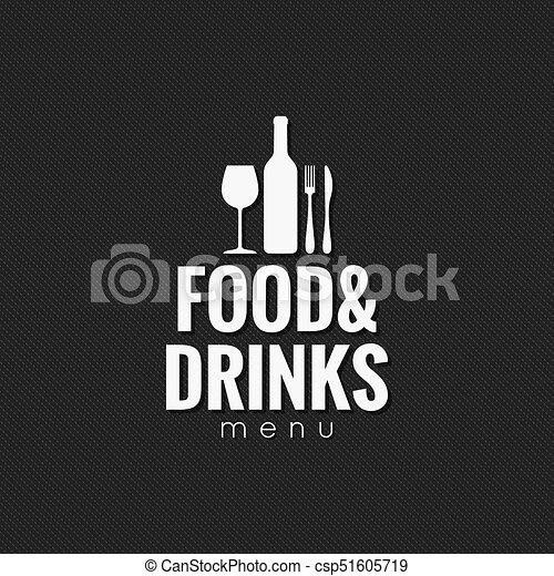 El menú del restaurante. Comida y bebida - csp51605719