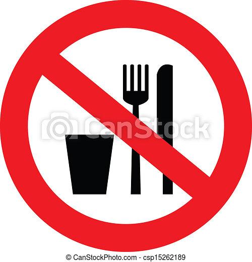 No hay señal de comida ni bebida - csp15262189