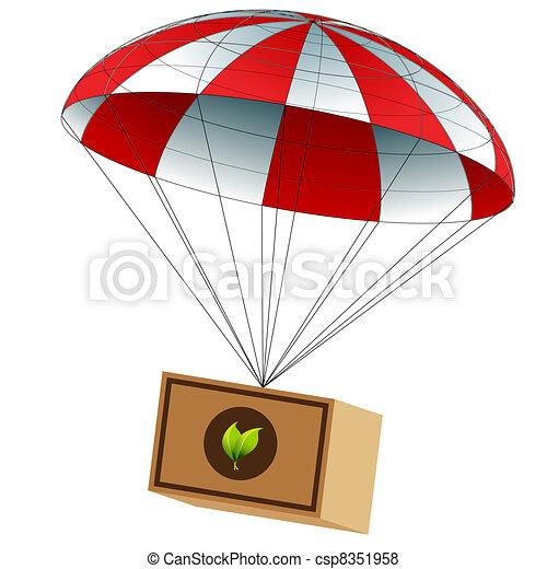 La entrega de alimentos caritativa - csp8351958