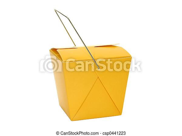 Cartón de comida - csp0441223