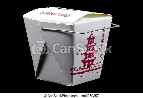Cartón de comida - csp0080257
