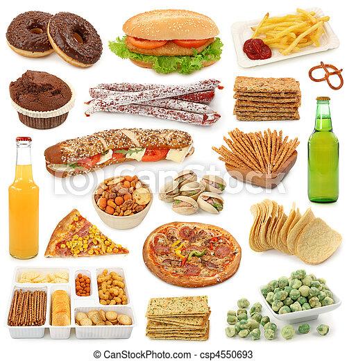 Una colección de comida basura - csp4550693