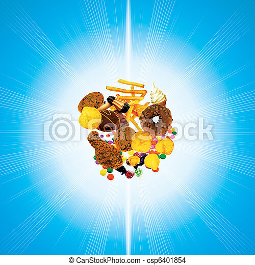 Comida basura - csp6401854