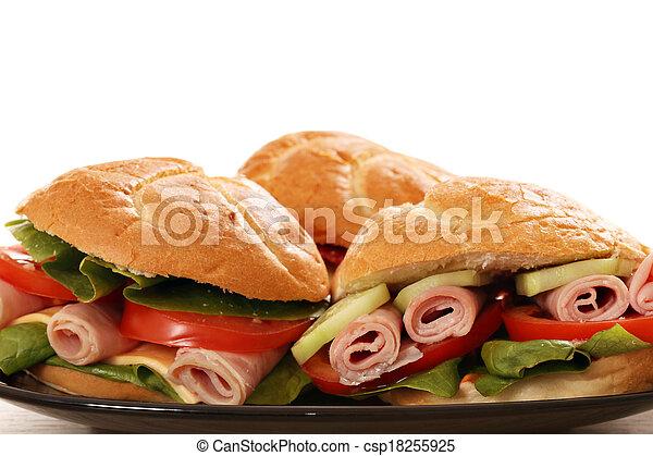El sándwich cierra los antecedentes de comida - csp18255925