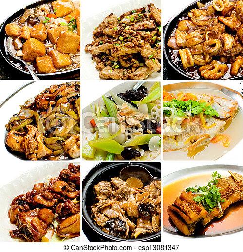 alimento, cobrança, chinês, asiático - csp13081347