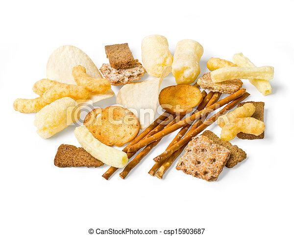 Coleccion de bocadillos de comida, - csp15903687