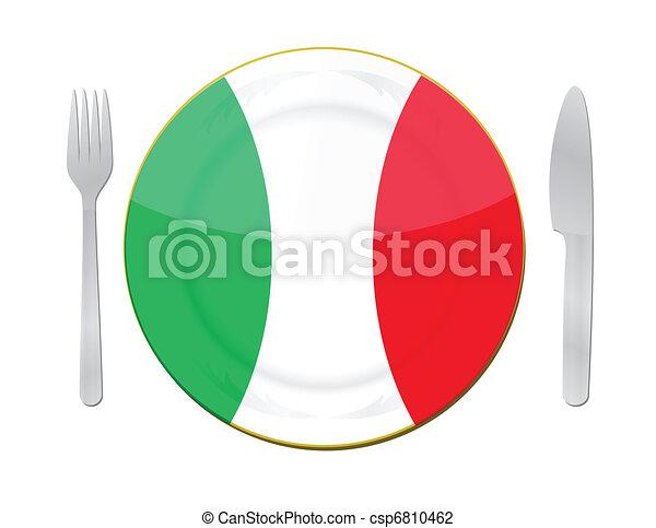 El concepto de comida italiana. - csp6810462