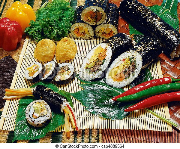 Comida coreana - csp4889564