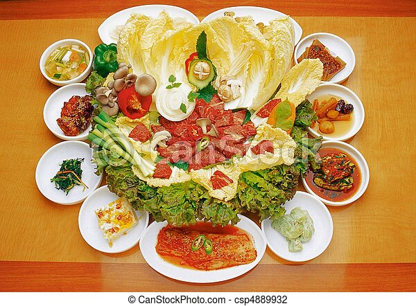 Comida coreana - csp4889932