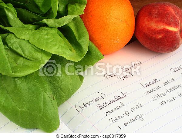 El diario de comida - csp0317059