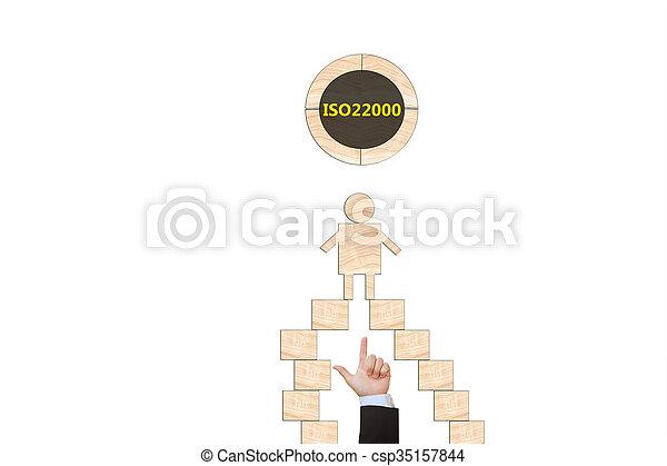 alimento, dirección, seguridad, iso22000, specifying - csp35157844